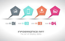 Infographics concept to display your data Stock Photo