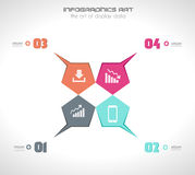 Infographics concept to display your data Royalty Free Stock Images