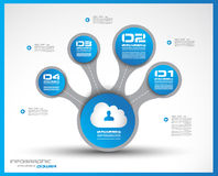 Infographics concept to display your data Royalty Free Stock Photography