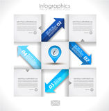 Infographics concept to display your data Stock Photos