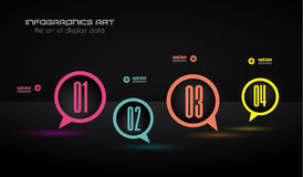 Infographics concept to display your data in a stylish way. Stock Images