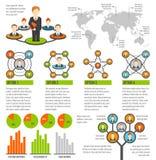 Infographics conectado de la gente Imagen de archivo