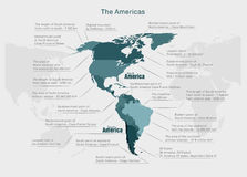 Infographics continent America blue and gray Royalty Free Stock Photography