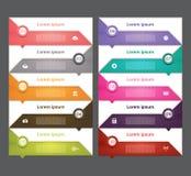 现代infographics选择横幅 也corel凹道例证向量 能为工作流布局,图,数字选择,网络设计, pri使用 免版税图库摄影