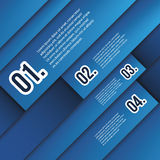 Infographics Cover. Blue Numbered Tiled Banner Designs - Illustration in Freely Scalable & Editable Vector Format Stock Photo