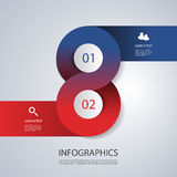 Infographics Cover Template - Circle Designs with Icons Royalty Free Stock Photography