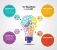 Infographics creativo de las ideas Fotografía de archivo libre de regalías