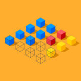 Infographics with cubes. Diamond shaped plane Royalty Free Stock Photo