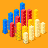 Infographics with cubes Stock Photo