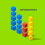 Infographics with cubes Royalty Free Stock Image