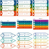 Infographics cyclic processes, 9 templates Royalty Free Stock Images