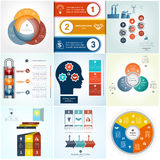 Infographics cyclic processes three positions Royalty Free Stock Photo