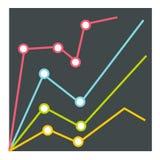 Infographics d'échelle de croissance, style plat Image libre de droits