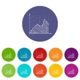Infographics d'échelle de croissance, style tiré par la main Photographie stock