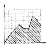Infographics d'échelle de croissance, style tiré par la main Photo stock