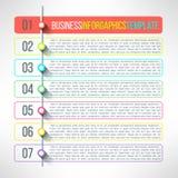 Infographics d'étapes de processus d'affaires de vecteur Photographie stock libre de droits