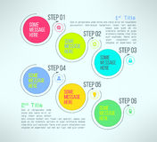 Infographics d'étapes de processus d'affaires de vecteur Photo libre de droits