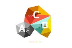 Infographics d'ABC Photographie stock libre de droits