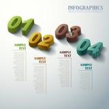 Infographics 3d abstrait