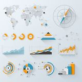 Infographics d'affaires Photo stock