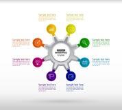 Infographics d'affaires avec huit étapes pour le succès Ele abstrait Photos libres de droits