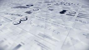 Infographics d'affaires avec l'animation de boucle de diagramme Diagrammes et graphiques Réussite commerciale et concepts financi banque de vidéos