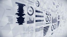 Infographics d'affaires avec l'animation de boucle de diagramme Diagrammes et graphiques Réussite commerciale et concepts financi clips vidéos