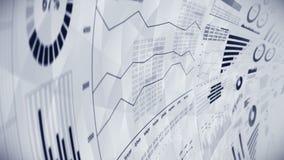 Infographics d'affaires avec l'animation de boucle de diagramme Diagrammes et graphiques Réussite commerciale et concepts financi illustration stock