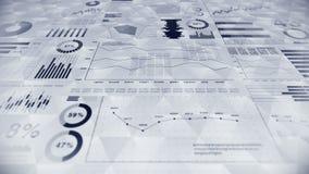 Infographics d'affaires avec l'animation de boucle de diagramme Diagrammes et graphiques Réussite commerciale et concepts financi illustration libre de droits