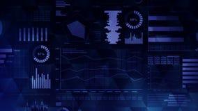Infographics d'affaires avec l'animation de boucle de diagramme Diagrammes et graphiques Réussite commerciale et concepts financi illustration de vecteur