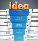 Infographics d'affaires de l'idée 3d Photos stock