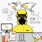 Infographics d'huile et d'industrie du gaz, extraction Photographie stock