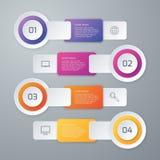 Infographics d'illustration de vecteur quatre options illustration libre de droits