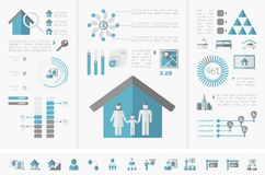 Infographics d'immobiliers Images stock