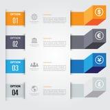 infographics 3d mínimo Vetor Fotografia de Stock Royalty Free