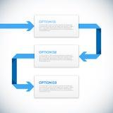 Infographics 3D malplaatje met pijlen. Royalty-vrije Stock Foto