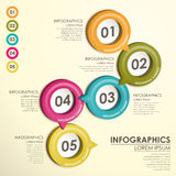 Infographics d'organigramme de label de cercle Photo stock