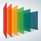 Infographics 3d perspective rainbow transparent Stock Images