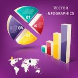 Infographics 3d set Royalty Free Stock Photos
