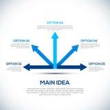Infographics 3D szablon z strzała. royalty ilustracja