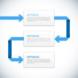 Infographics 3D template with arrows. Different Way Infographics Royalty Free Stock Photo