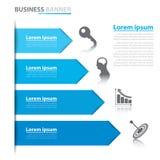 Infographics da bandeira da seta do negócio Foto de Stock
