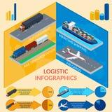 Infographics da entrega Imagem de Stock Royalty Free