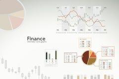 Infographics da finança - gráficos, cartas, estatísticas Foto de Stock