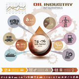Infographics da indústria de petróleo e gás Fotografia de Stock