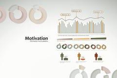 Infographics da motivação com gráficos e estatísticas Fotos de Stock