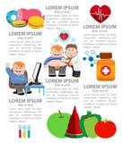 Infographics da nutrição Foto de Stock Royalty Free