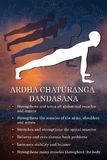 Infographics da pose da ioga, benefícios da prática Foto de Stock Royalty Free