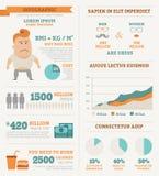 Infographics da saúde Imagens de Stock
