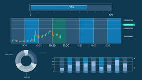 Infographics da troca e da bolsa de valores no canal alfa ilustração stock